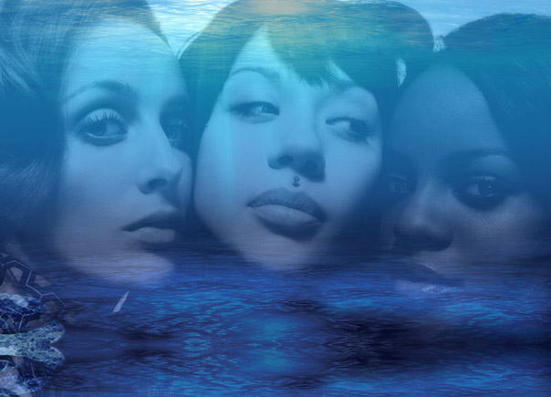 Mutya Keisha Siobhan Lay Down In Swimming Pools Reacharounds Polaroids Of Androids