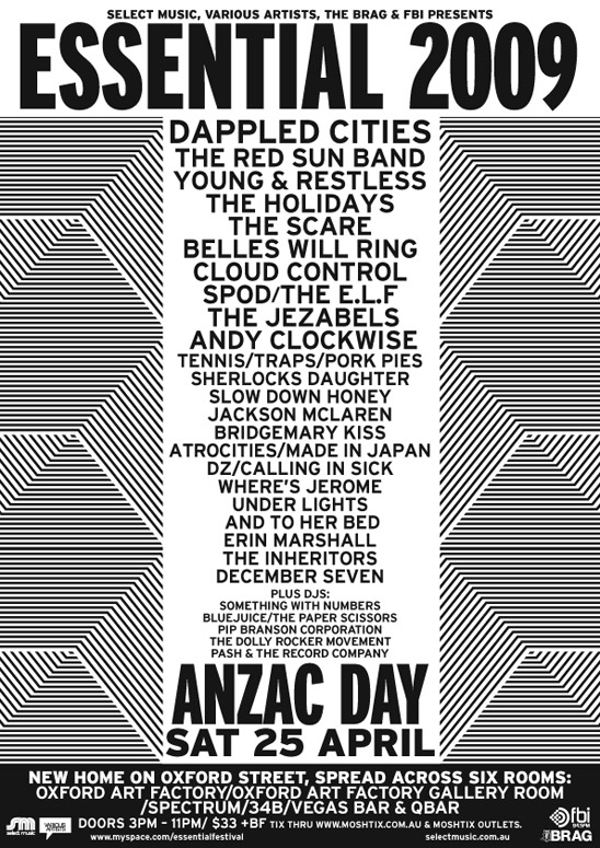 Essential Festival flyer